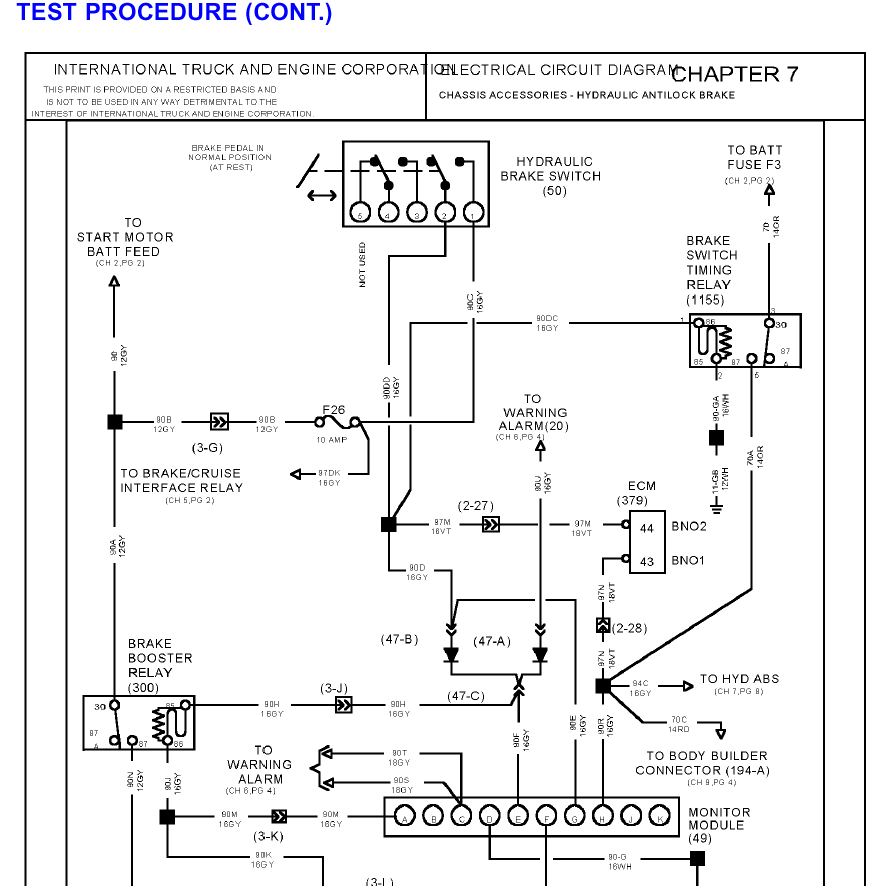 Light Wiring Diagrams 1996 International 4700 Light